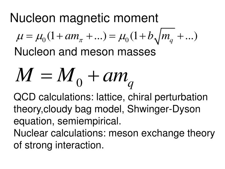 Nucleon magnetic moment