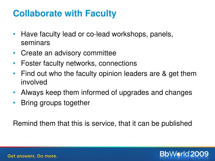 Collaborate with Faculty