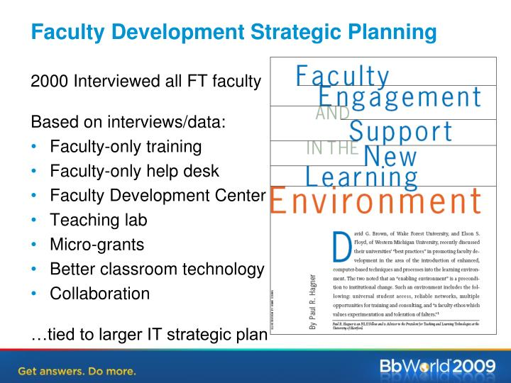Faculty Development Strategic Planning