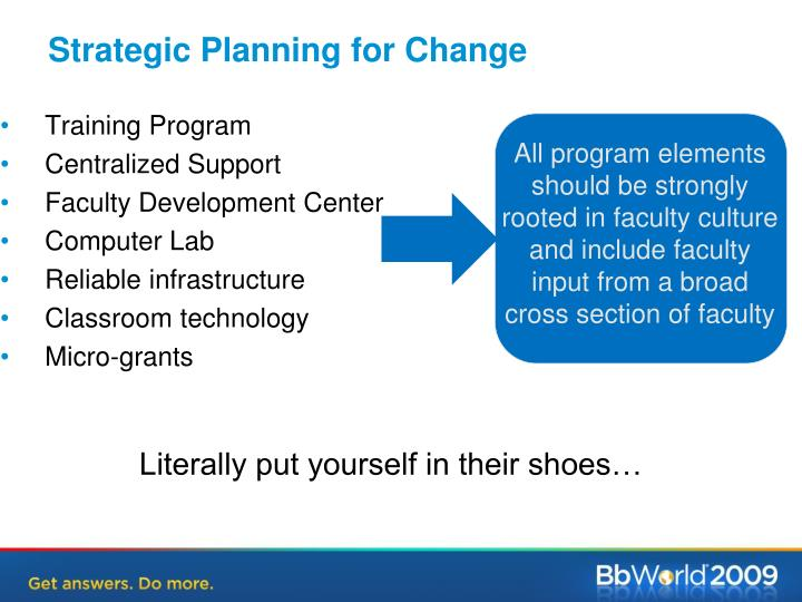 Strategic Planning for Change