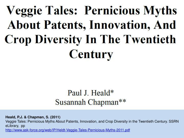 Heald, P.J. & Chapman, S. (2011)