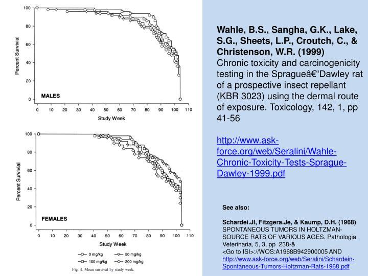 Wahle, B.S., Sangha, G.K., Lake, S.G., Sheets, L.P., Croutch, C., & Christenson, W.R. (1999)