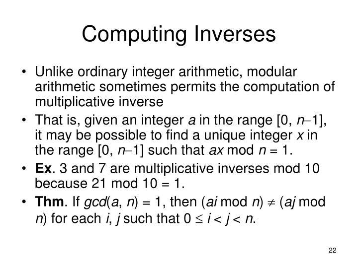 Computing Inverses
