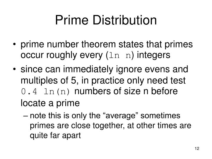 Prime Distribution