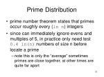 prime distribution