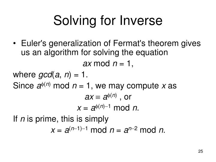 Solving for Inverse