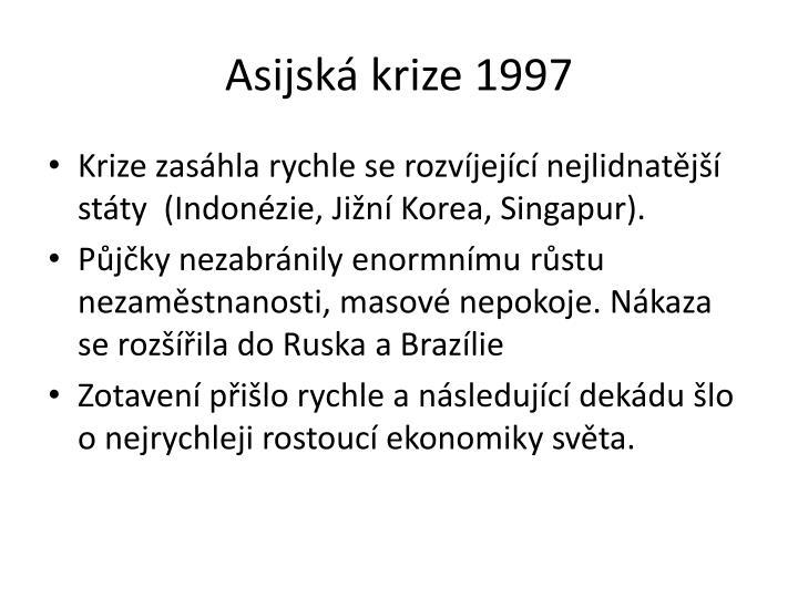 Asijská krize 1997