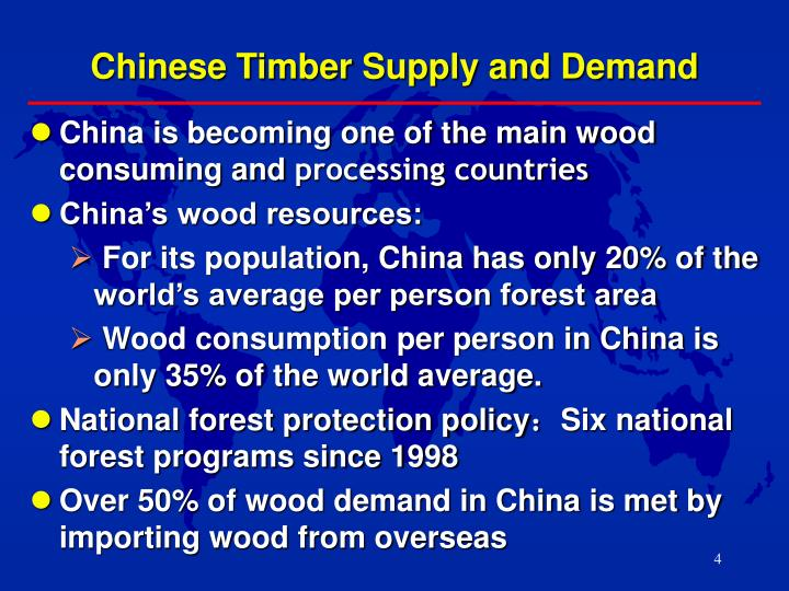 Chinese Timber Supply and Demand