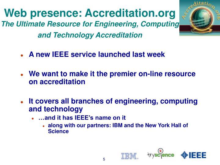 Web presence: Accreditation.org