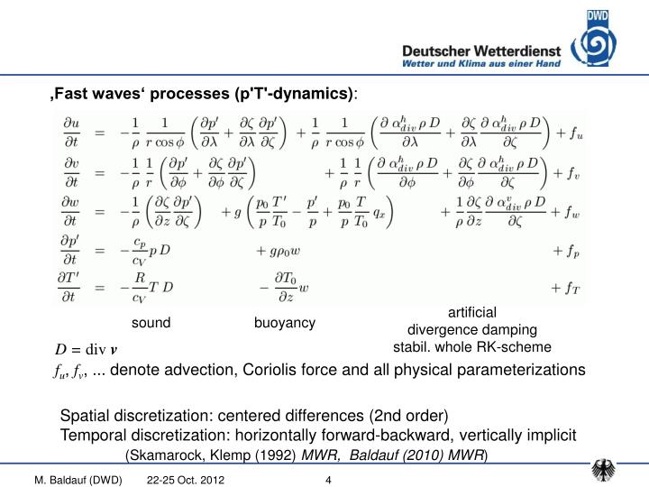 'Fast waves' processes (p'T'-dynamics)