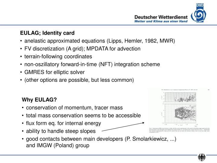 EULAG; Identity card