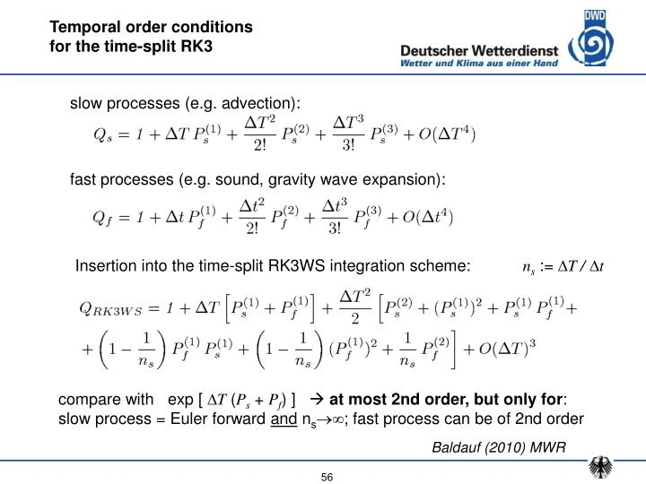 Temporal order conditions
