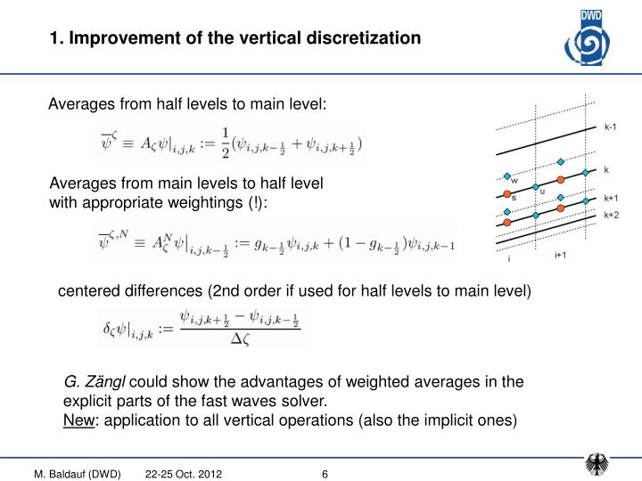 1. Improvement of the vertical discretization