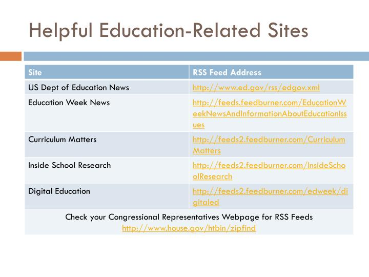 Helpful Education-Related Sites