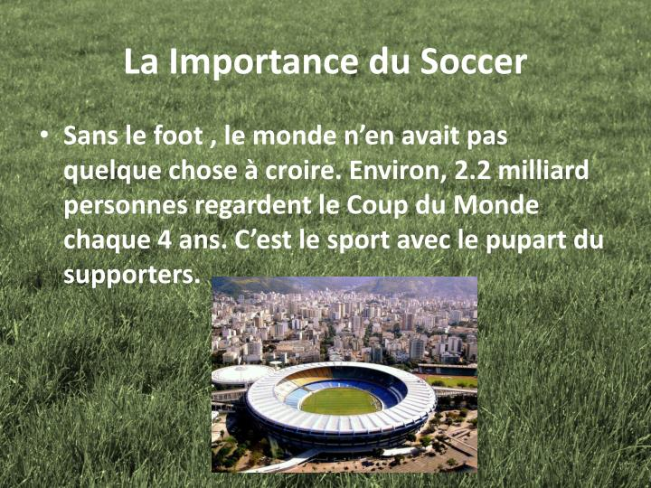 La Importance du Soccer