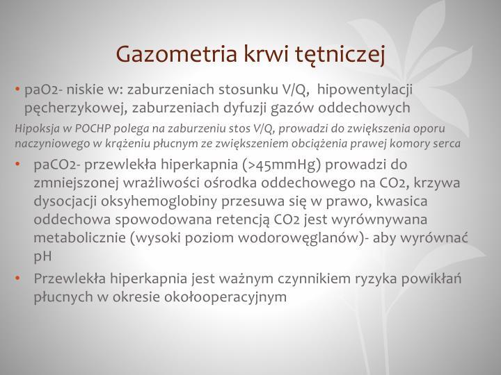 Gazometria krwi tętniczej