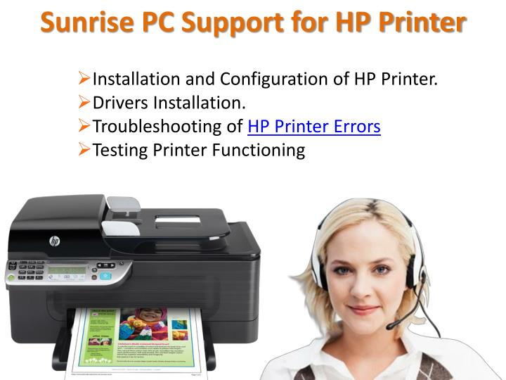 Sunrise PC Support for HP Printer