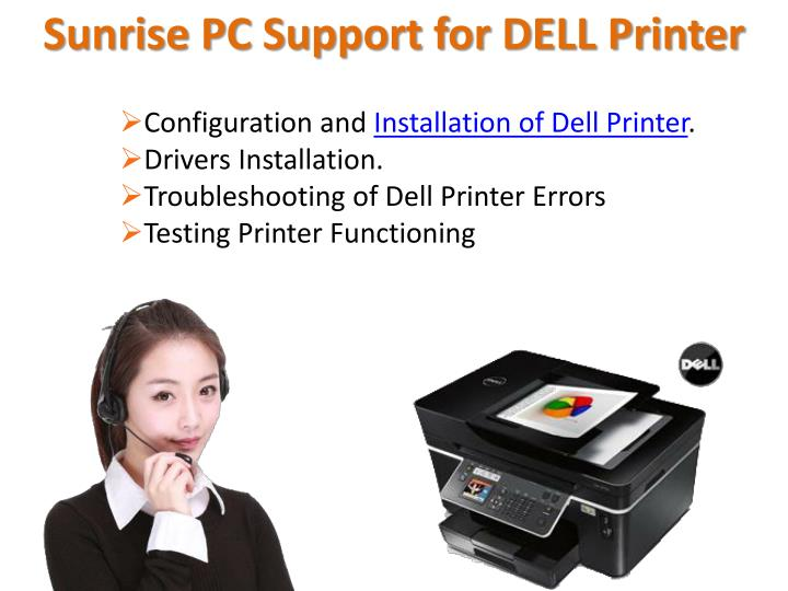 Sunrise PC Support for DELL Printer
