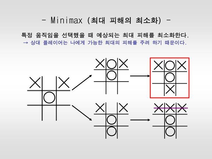 - Minimax
