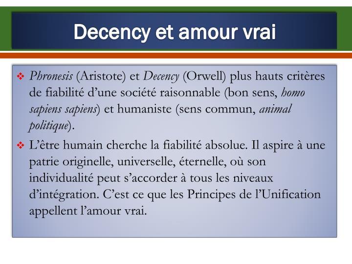 Decency