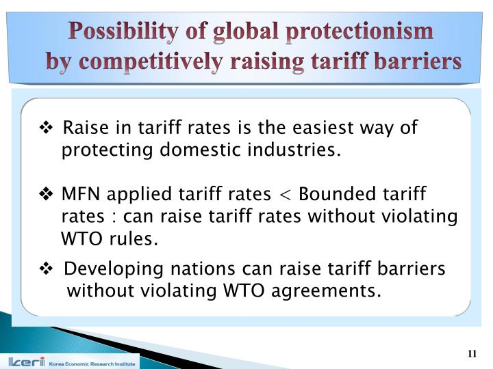Possibility of global protectionism