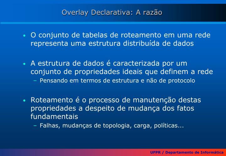 Overlay Declarativa: A razão