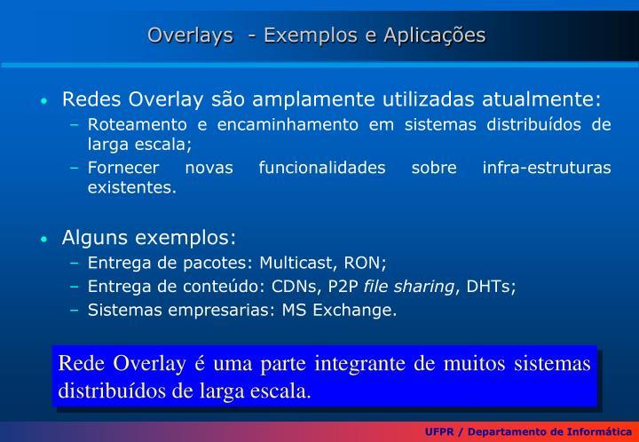 Overlays  - Exemplos e Aplicações
