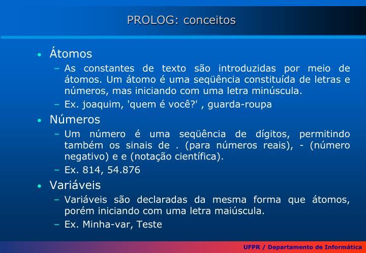 PROLOG: conceitos
