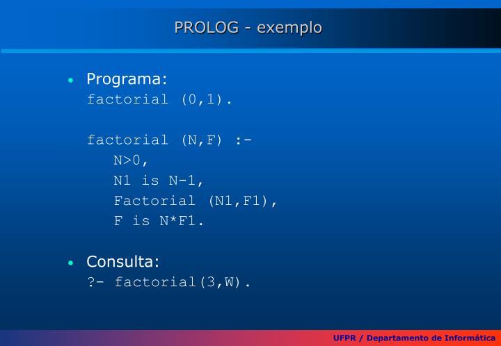 PROLOG - exemplo