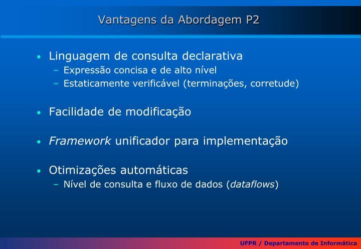 Vantagens da Abordagem P2