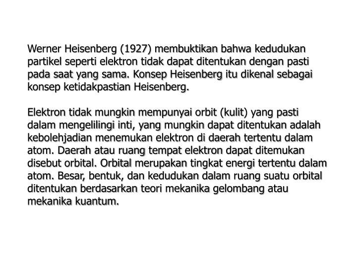 Werner Heisenberg (1927)