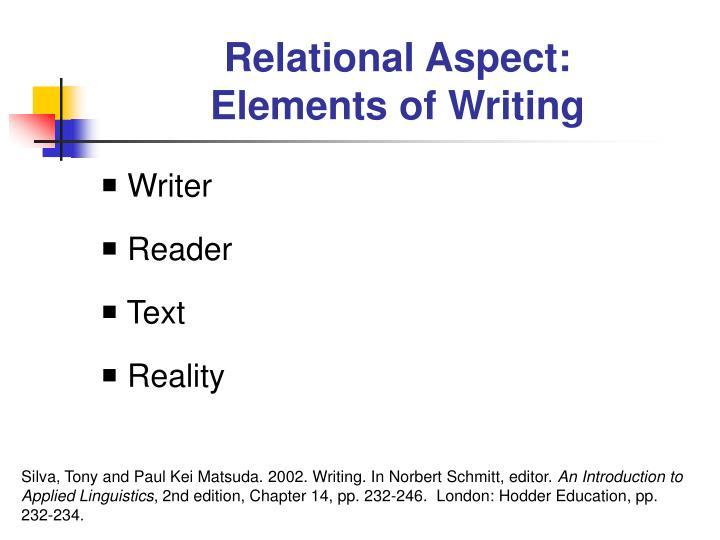 Relational Aspect: