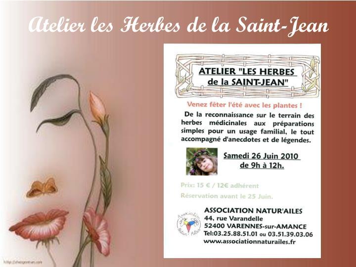 Atelier les Herbes de la Saint-Jean