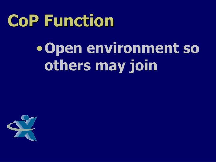 CoP Function