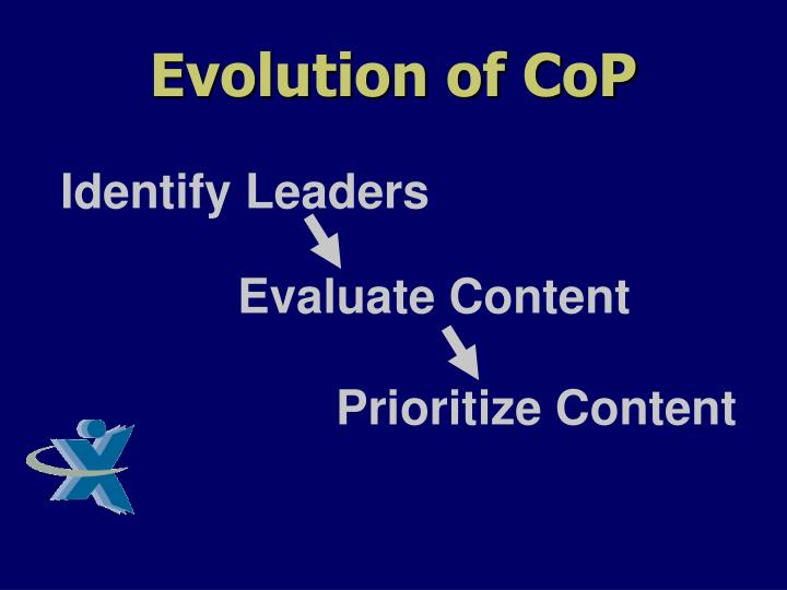 Evolution of CoP