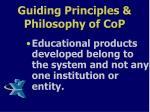 guiding principles philosophy of cop2