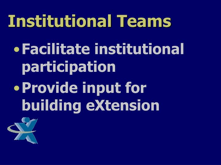 Institutional Teams