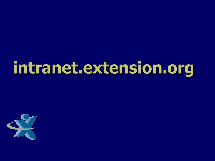 Intranet extension org