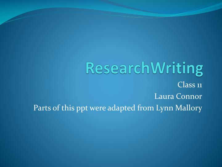 Researchwriting