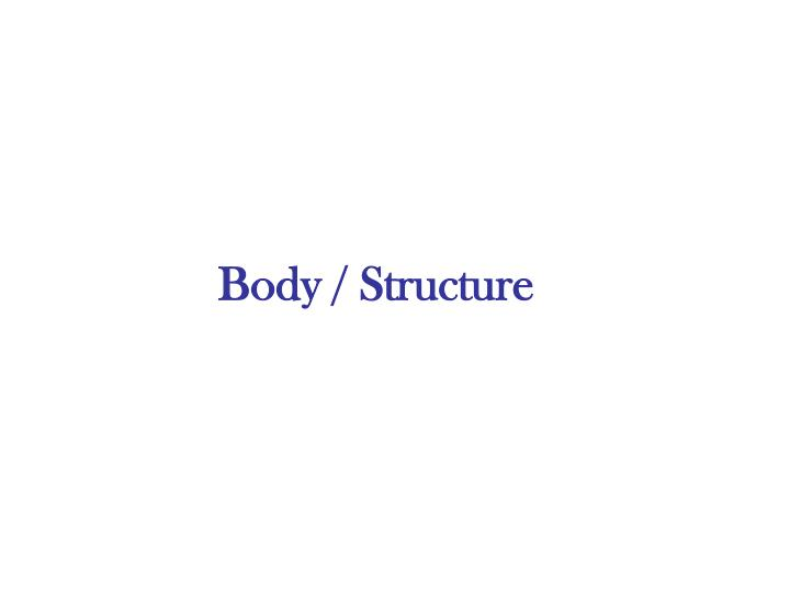 Body / Structure