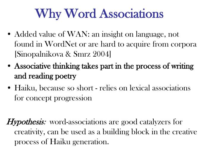 Why Word Associations