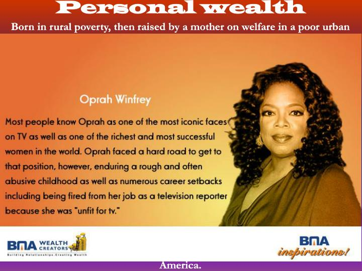 Personal wealth