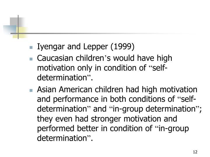 Iyengar and Lepper (1999)