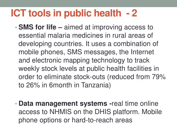 ICT tools in public health  - 2