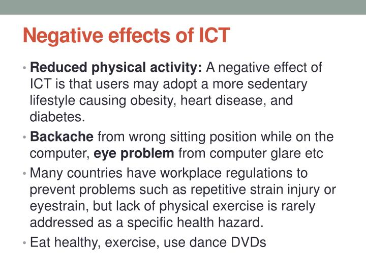 Negative effects of ICT