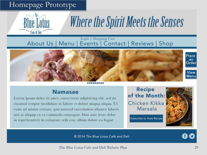 Homepage Prototype