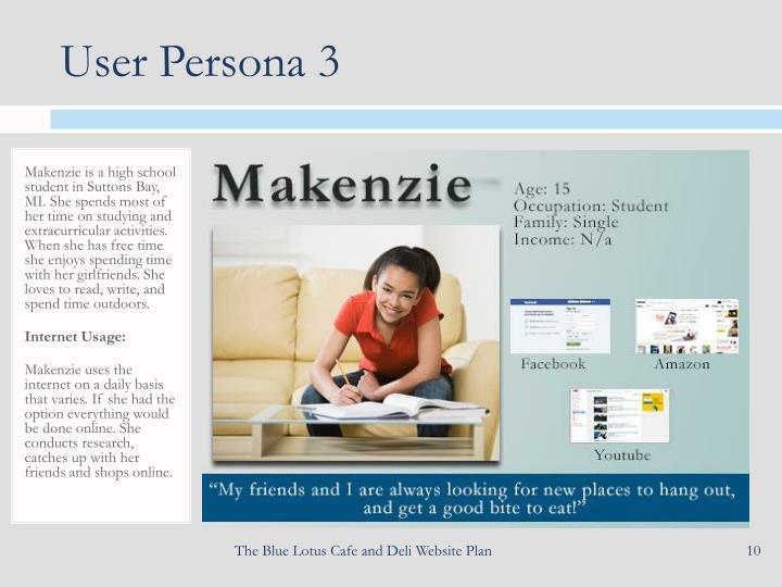 User Persona 3