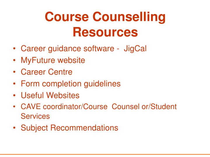 Course Counselling Resources