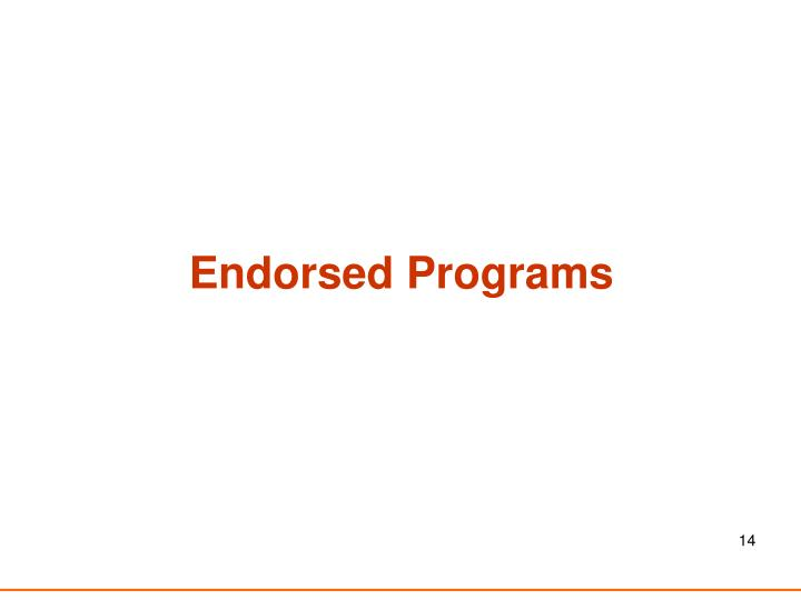 Endorsed Programs