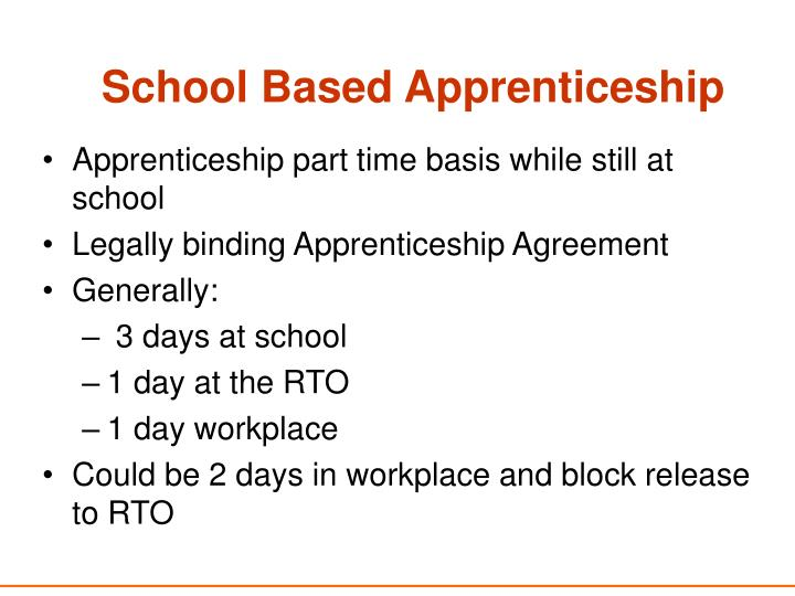 School Based Apprenticeship